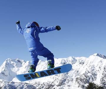 Snowboard lessons in Madonna di Campiglio