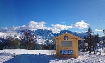 Ski School office on the ski slopes